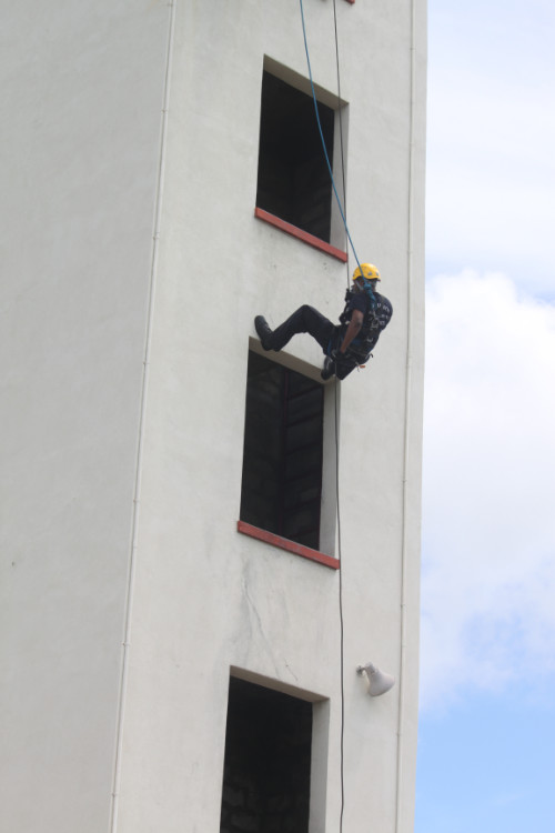 Barbados fire fighter training